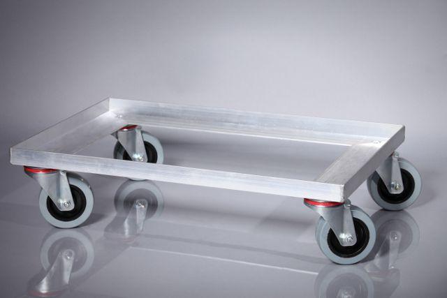alu transportroller rollwagen f r euro stapelbeh lter 600. Black Bedroom Furniture Sets. Home Design Ideas