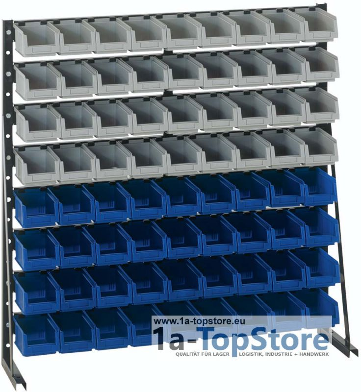 sichtkasten st nderregal np 8 lackiert mit 72 sichtlagerboxen. Black Bedroom Furniture Sets. Home Design Ideas