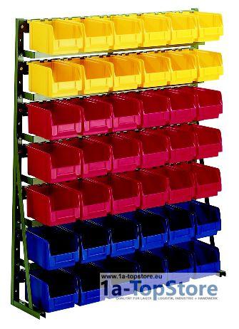 normregal n 10d lackiert mit 42 sichtlagerk sten lk 3 265 88. Black Bedroom Furniture Sets. Home Design Ideas
