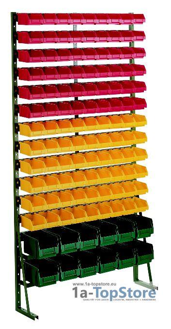 normregal n 15f mit 120 lagerk sten 368 93 lager und t. Black Bedroom Furniture Sets. Home Design Ideas