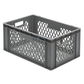 Multi-Purpose stacking container, 270x600x400 mm (hxwxd), perforated walls and bottom, 51 litre, mat.: polypropylene