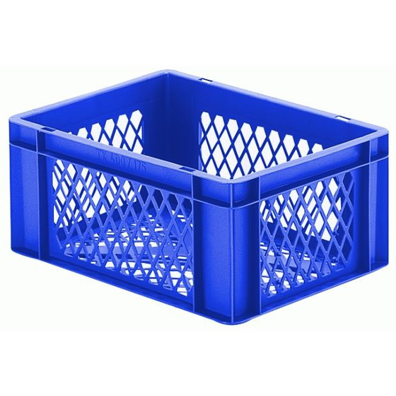 Euro-Format Stacking Container TK 400/175-2, 175x400x300 mm (HxWxD), perforated walls - bottom, 15 Litre, Mat.: Polypropylene