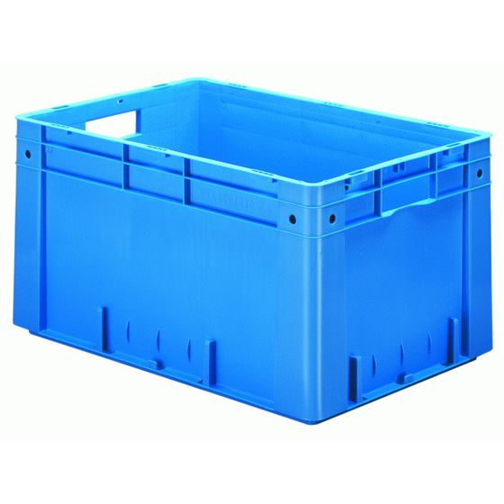 Heavy duty stacking box VTK 600/320-0, 600x400x320 mm LxWxH, walls and base closed, 60 litres, made of PP