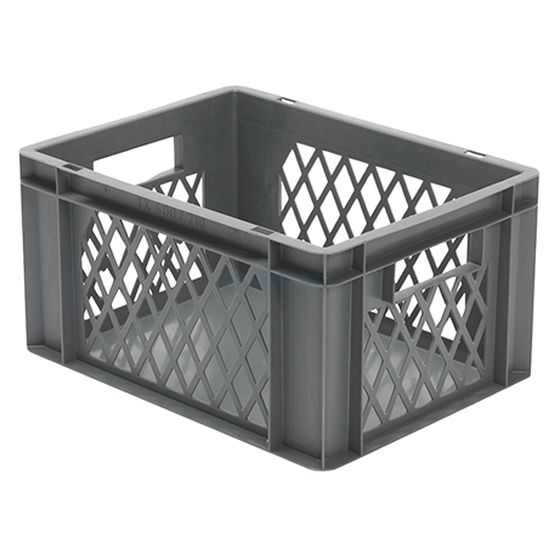 Euro-Format Stacking Container TK 400/210-1, 210x400x300 mm (HxWxD), perforated walls - closed Bottom, 19 Litre, Mat.: Polypropylene