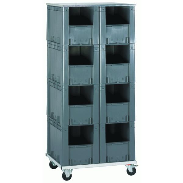 stapelkasten regale transport und stapelboxen beh lterin gro er a. Black Bedroom Furniture Sets. Home Design Ideas