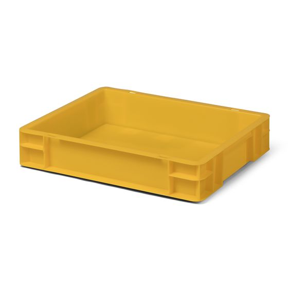 Euro-Format Stacking Container TK 400/75-0, 75x400x300 mm (HxWxD),closed Walls-Bottom, 7 Litre, Mat.: Polypropylene