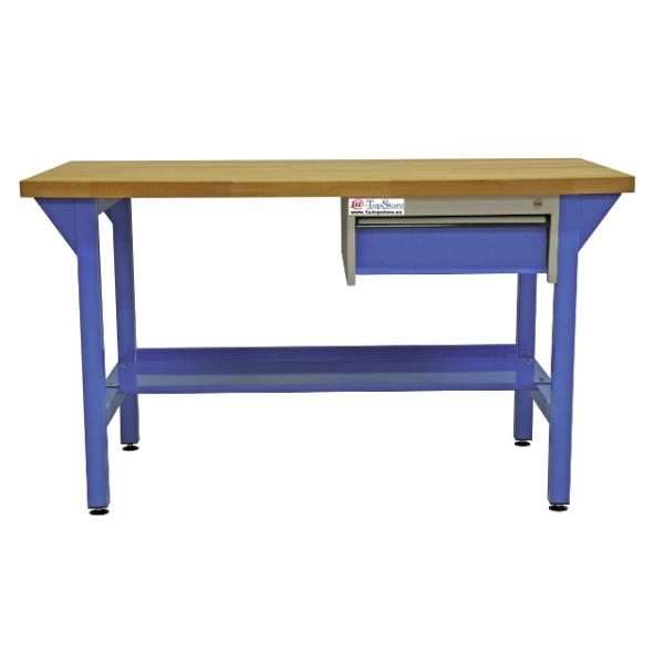 Werkbanktisch Mit Unterbau Schublade Und Massiver Buchenholzplatte