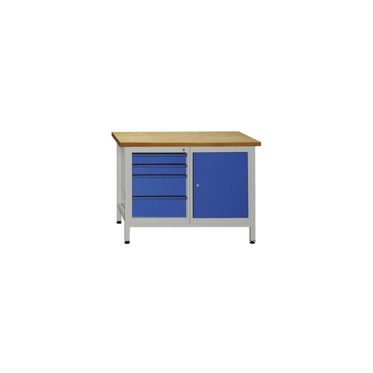 werkbank mit 4 schubladen und t r transport und stapelboxen beh l 687 50. Black Bedroom Furniture Sets. Home Design Ideas