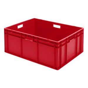 Transport-Stapelkasten TK 800/320-0, rot, 800x600x320 mm...