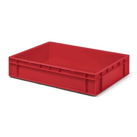 Transport-Stapelkasten TK 600/120-0, rot, 600x400x120 mm...