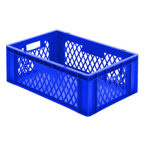 Transport-Stapelkasten TK 600/210-1, blau, 600x400x210 mm...