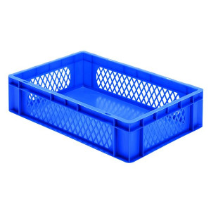 Transport-Stapelkasten TK 600/145-1, blau, 600x400x145 mm...