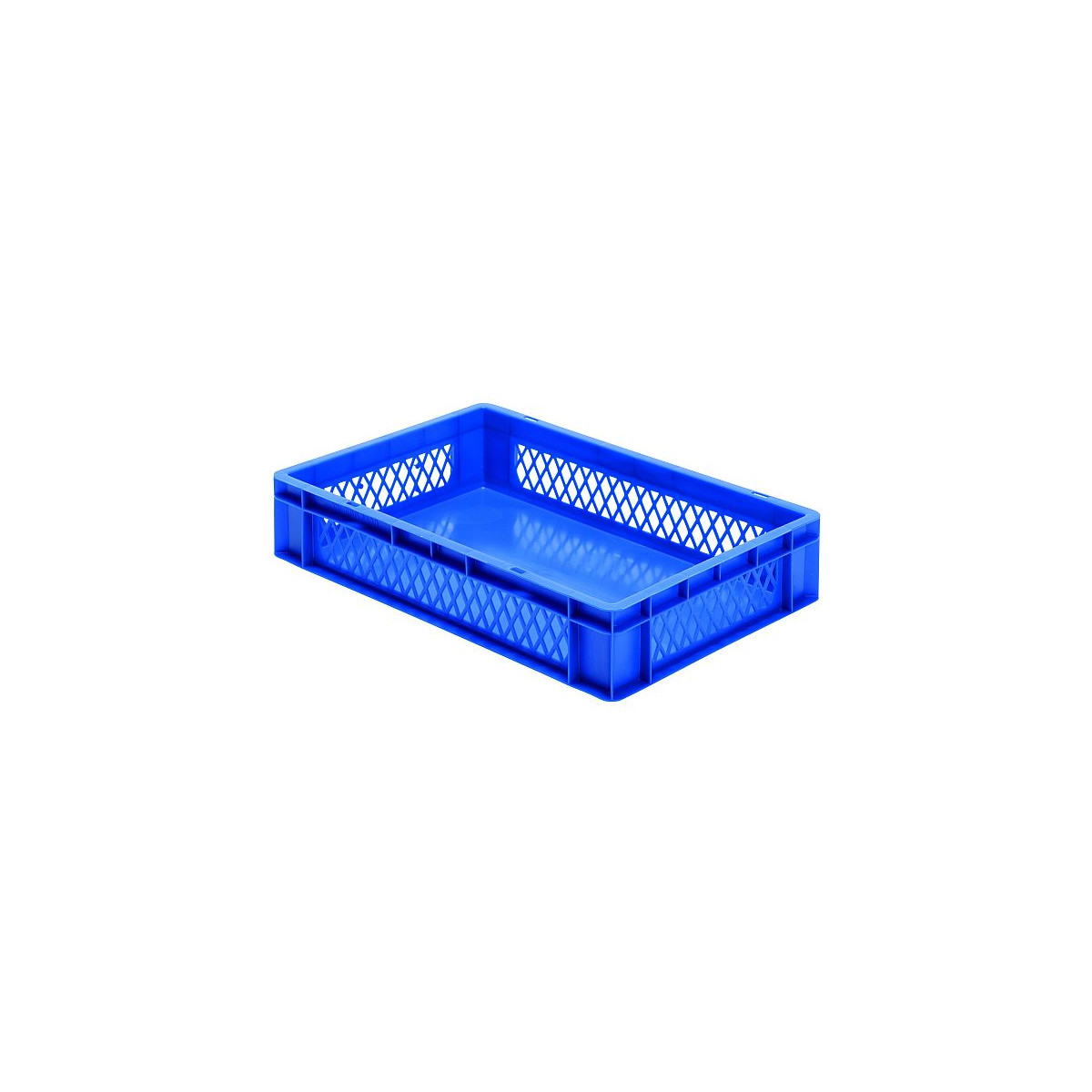Transport stapelkasten tk 600 120 1 blau 600x400x120 mm for Aufstellpool 400 x 120