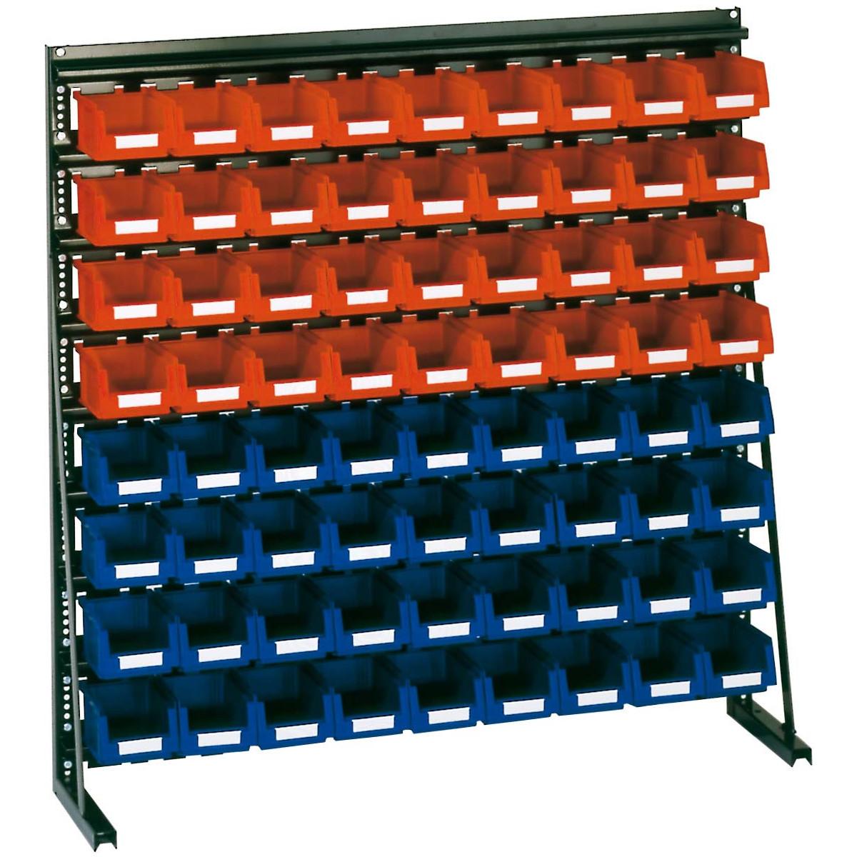 sichtkasten st nder regal v8a pulverbeschichtet 1000 x 1000 mm hxb 312 50. Black Bedroom Furniture Sets. Home Design Ideas