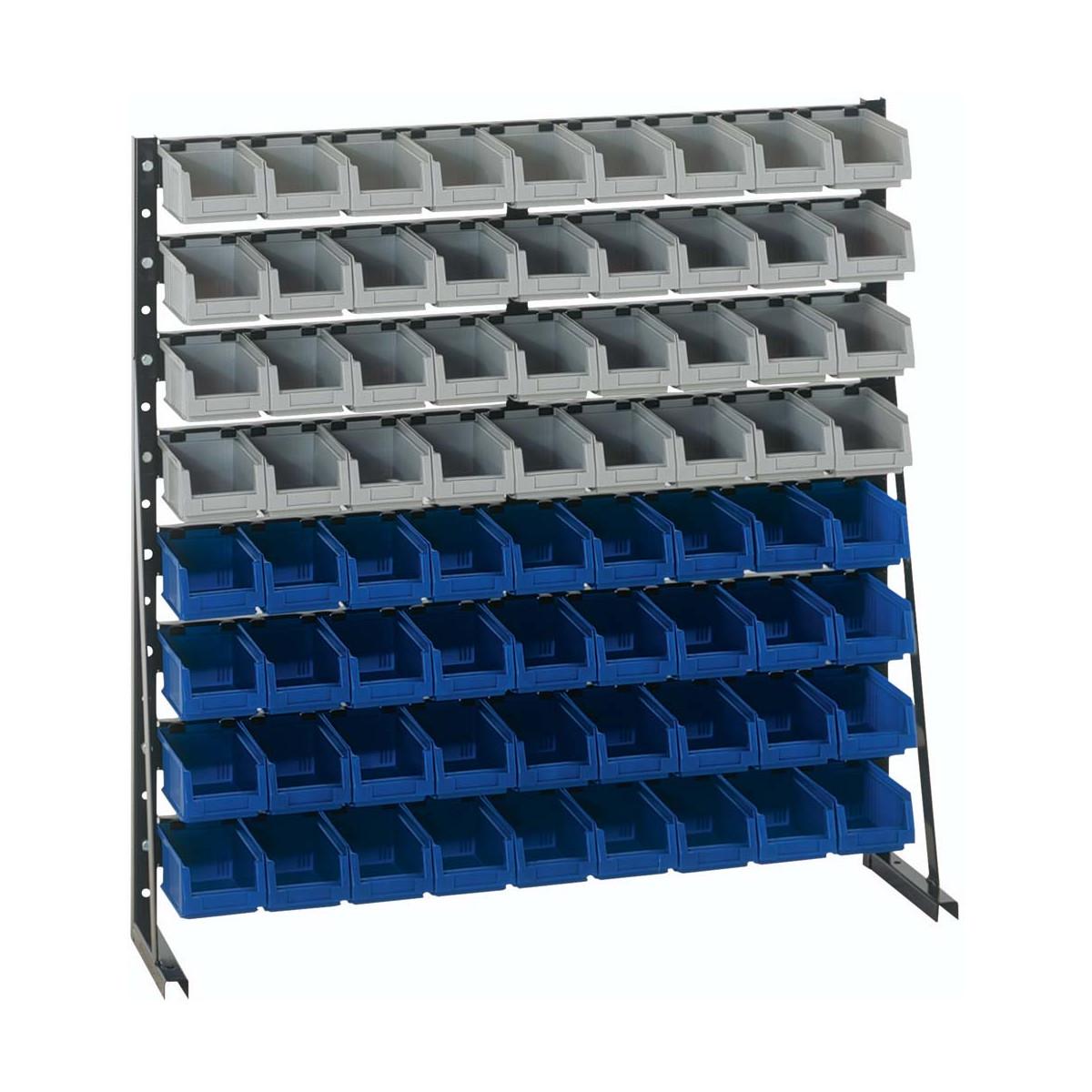 sichtkasten st nderregal np 8 lackiert mit 72 sichtlagerboxen aus p 251 80. Black Bedroom Furniture Sets. Home Design Ideas