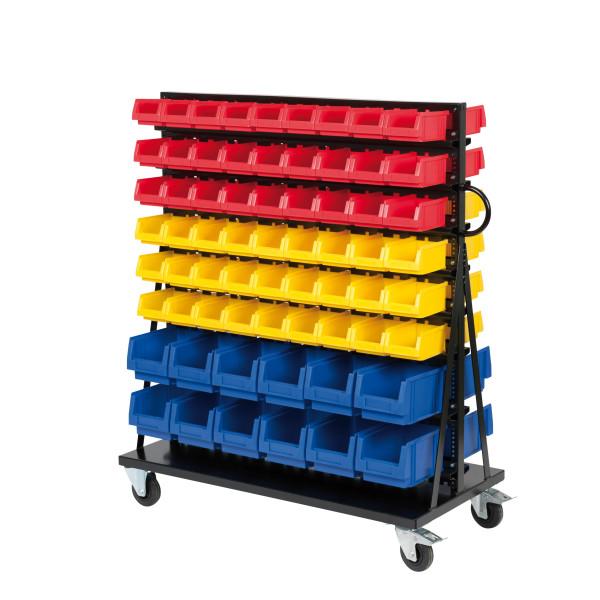 montage rollwagen vr 3 mit 132 sichtlagerk sten aus pp. Black Bedroom Furniture Sets. Home Design Ideas