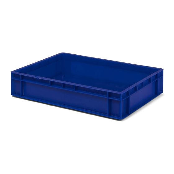 Euro-Format Stacking Container TK 600/120-0, 120x600x400 mm (HxWxD), closed walls - bottom, 22 Litre, Mat.: Polypropylene