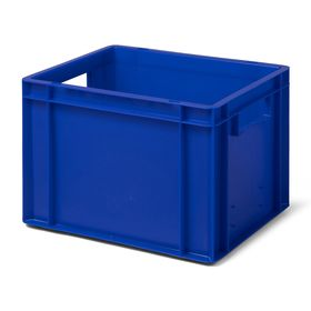 Euro-Format Stacking Container TK 400/270-0, 270x400x300 mm (HxWxD), closed walls - bottom, 24 Litre, Mat.: Polypropylene